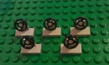 5 x Lego Small Car Steering Wheels grey Pre-owned very good condition
