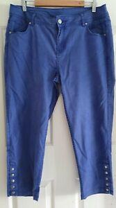 Taking Shape Ladies size 16 Purpley Blue Capri Jeans TS