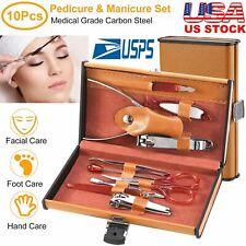 Nail Care 12 Piece Cutter Cuticle Clipper Manicure Pedicure Kit Case Gift Set