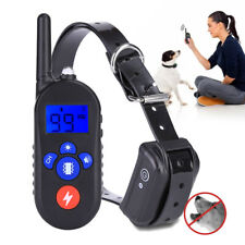 Waterproof Electronic Pet Dog Training Collar Remote Anti-Bark Bite LCD Display