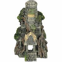 Large Aquatic Aquarium Cambodian Temple Ruins Fish Tank Ornament 19x15x27cm