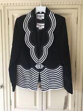 Black Nina Massini jacket and camisole top