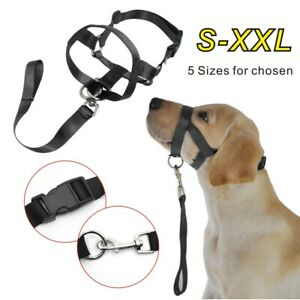 Collar Reigns Style Stops Head Halter Pulling Dog Nose Muzzle Training Pet Dog