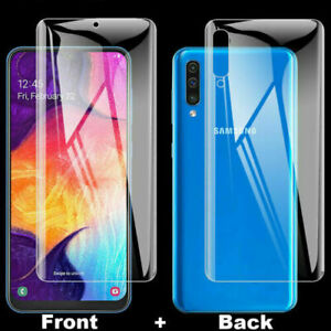 Front Back Hydrogel Screen Protector Samsung Galaxy S20 Ultra S10 S9 S8 Note 10