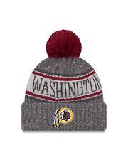 "54794e303ff Washington Redskins New Era 2018 NFL Sideline Sport Knit Hat  €"" Graphite"