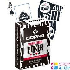 COPAG WSOP WORLD SERIES OF POKER 100% PLASTIC JUMBO INDEX POKER CARDS DECK BLACK
