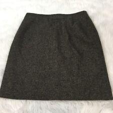 Lauren Ralph Lauren Petite Skirt Size 12P 100% Lambswool A Line Brown Career