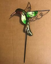 indoor outdoor hummingbird use 3 ways hang sign, clip, planter garden pick decor