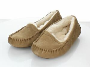 N7 NEW $100 Women's Size 7 M UGG Scalloped Suede Moccasin Slipper