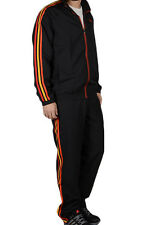 SIZE 34-36 EXTRA-SMALL - ADIDAS 3 STRIPES ESSENTIALS FULL ZIP TRACKSUIT - BLACK