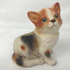 """Vintage Napcoware 5"""" Tabby Kitty Cat Kitten Planter Vase Japan # 6718 Napco"""