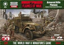 FLAMES OF WAR ARMORED RIFLE PLATOON US WWII Figurines 15mm plastique
