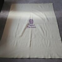 "Hotel Benson Portland Oregon Vintage 100% Wool Blanket Kenwood Mills 74"" x 56"