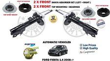 PER FORD FIESTA 1.4 AUTO 2008- > 2x Ammortizzatore Ant Set +SUPPORTO +CUSCINETTO