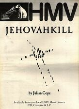 "24/10/92PGN51 JULIAN COPE : JEHOVAHKILL ALBUM ADVERT 15X11"" HMV FRAMED"