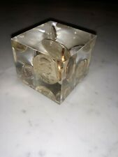 Vintage coins Paperweight Complete Uncirculated Set in Acrylic Cube
