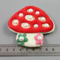 1 x SEW ON 75mm TOADSTOOL  SOFT PADDED EMBELLISHMENT CRAFTS SEWING H2081