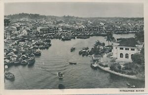 SINGAPORE RIVER REAL PHOTOGRAPHIC POSTCARD