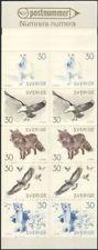 Sweden 1968 Liljefors/Fox/Eagle/Hare/Stoat/Animals/Wildlife 10v bklt (b6820p)