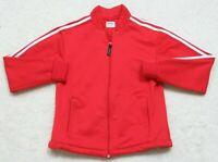 Asics Athletic Jacket Coat Red White Women's Medium Exercise Polyester Running