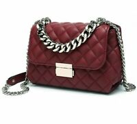 Messenger Bags Women Chains Shoulder Bag Diamond Luxury Handbags Burgundy Gift