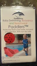 Konfidence Paddlers Pool Socks Nautical 3-6 mos Baby Red Swimming Feet Non slip