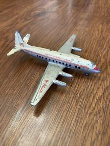 Vtg Meccano Ltd Dinky 60e Viscount British European Airways BEA Airplane