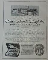 Oskar Schenck Pforzheim Toilette-Bürsten-Fabrik 2 Seiten Große Werbeanzeige 1925
