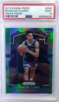 2019-20 Panini Prizm Green Brandon Clarke Rookie RC #266, Graded PSA 9 Mint