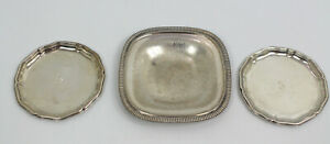 3x alt Wilkens Silber 143 gr. Schale Untersetzer 835 830 835