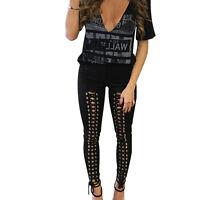 Women High Waist Stretch Skinny Jeans Jeggings Ladies Pencil Pants Slim Leggings