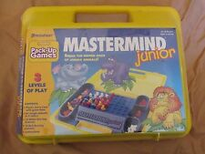 Brand New Mastermind Junior Pack-Up Games by Pressman with Case (2000 Vintage)