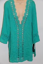 NWT La Blanca swimsuit bikini Cover Up Tunic Dress Sz M LAG