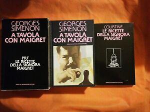 Georges Simenon A TAVOLA CON MAIGRET + LE RICETTE DELLA SIGNORA MAIGRET 1^ Ediz.