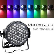 200W 54 LEDs Stage Wash Light RGBW PAR64 DMX-512 8CH LED Stage Washer Concert