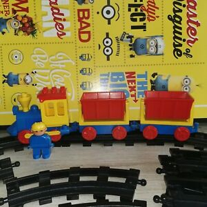 Vintage Lego Duplo Freight Train Set From 1983 ~ Push along Train Track