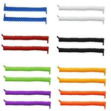 1 Pair 8 Colors Curly Coiler Elastic Sports Twisty Spring No Tie Shoe Laces Gift
