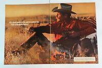 1977 Come To Marlboro Country Cigarette Cowboy Man Richard Prince Print Ad 2 Pg