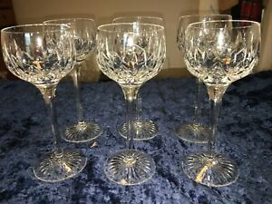 "Stuart Crystal Glencoe  Hock Wine Glass 7 1/2""  set of 6 glasses"