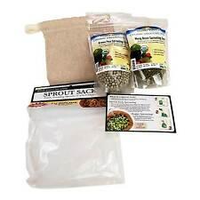 ORGANIC CLOTH SPROUTING SACK / BAG- GROW SPROUTS - SPROUT IN RV, HIKING, CAMPING