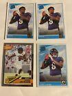 Lamar Jackson Optic rookie card 167 Baltimore Ravens 4 Card lot. rookie card picture