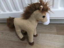 TY TORNADO THE HORSE PONY BROWN TAN WHITE SOFT CUDDLY TOY TEDDY BEAR NEXT EASTER