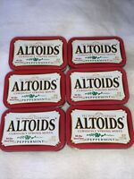Lot of 6 ALTOIDS Empty Tin Cans, Survival, Fishing, Crafts, Sewing, Storage, NEW