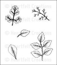 HEARTFELT CREATIONS Rubber Stamps LEAF MEDLEY HCPC 3405 Foliage Shapeabilities