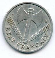 RARISSIME MONNAIE DE 1 FRANC BAZOR ALUMINIUM DE 1944 C @ PETIT C @ TOP VARIETE !