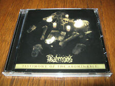 """BALMOG """"Testimony of the Abominable"""" CD cultes des ghoules funeral mist"""