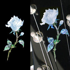 Single Rose Inlay Sticker Flower Decal Headstock Guitar & Bass