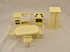 Kitchen / Dining Set  Cream T0142 dollhouse miniature 8pc 1/12 scale furniture
