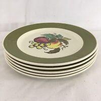"Poppytrail Metloe Provincial Fruit Vtg Mid Century USA Made 10 1/2"" Dinner Plate"