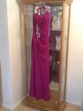 FAVIANA COUTURE EVENING/PROM DRESS, Plum/Magenta with sequins Uk 8,US SIZE 4